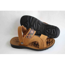 Soft Comfortable Men Beach Sandal with Latex Insole (SNB-14-007)