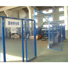Temporary Frame Mesh Fence for Material Storage