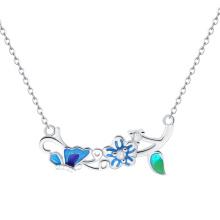 Nuevo collar clásico del diseño con la flor cocida al horno de la porcelana y el collar de la manera de Alicia