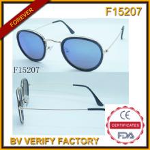 Nuevas gafas de sol marco redondo con muestra gratis (F15207)