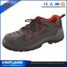 Sapatos de segurança de biqueira de aço leve Ufa118