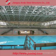 Cubierta prefabricada de la piscina de la piscina de China hecha por el marco del espacio de acero