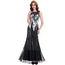 Starzz 2016 los cequis baratos sin mangas arquean el vestido de partido del baile de fin de curso de la tarde del vestido de bola de la red de Tulle Tamaño 8 US ~ 2 ~ 16 ST000059-1