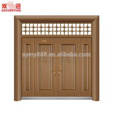 Vente chaude acier hommes porte design multi feuille porte principale avec charnière