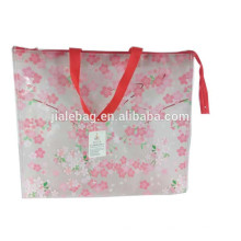 China new product transparency pp woven zipper bag shopping bag