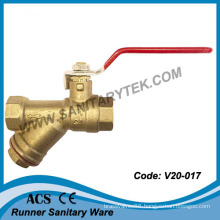 Brass Strainer Ball Valve (V20-017)