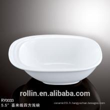 Vaisselle en pâte à tarte à l'huile de nouilles Fabricant Luxury Royal Irregular Bowl