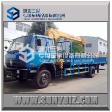Dongfeng 5 toneladas de camiones grúa de camión de carga móvil Rhd