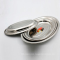 Chinese stainless steel oval seafood serving plate food platter tray