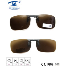 2015 New Structure Style Clip on Sunglasses, Polarized Lens Sunglasses, Fashion Clip on Sunglasses
