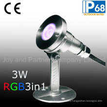 3W RGB3in1 LED Underwater Pool Light with Mounting Base (JP95316)