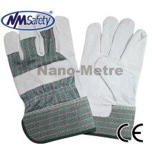 Luva de segurança de couro barata de alta qualidade NMSAFETY para trabalhador