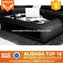 SUMENG foshan meubles moderne maison bois verre table basse