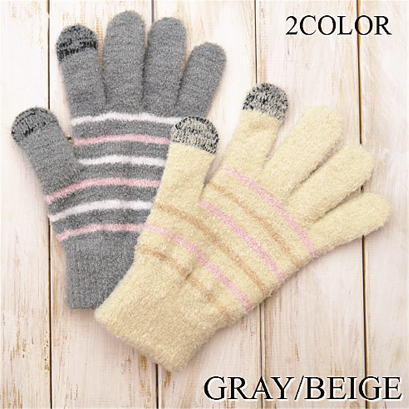 Hot Sale Brushed Winter Outdoor Ladies Warm Gloves