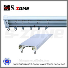 SDC01 wall mounted pvc double twin curtain track