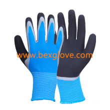 Double Coated Latex Glove, Sandy Finish