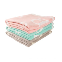 Light Weight Reversible Cotton Knit Baby Blanket CB-K16014