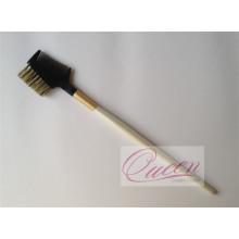 Cepillo de cepillo de pelo de cepillo de pelo de manija de madera para maquillaje