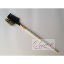 Wood Handle Bristle Hair Eyebrow Comb Brush