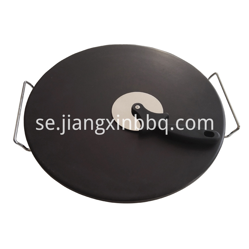 16 Inch Black Pizza Stone Set