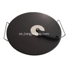 16 tums glaserade Cordierite Pizza Stone Set