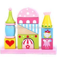 Castelo blocos shap sorter brinquedos educativos para crianças