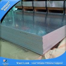 Hoja de acero galvanizado de alta calidad para techos