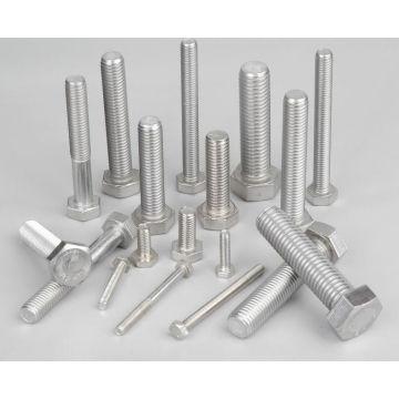 Uns S31803 S32750 Stud Bolts, S31803 S32750 S32760 Hex Bolts, DIN933 Bolts, D934 Nuts, Super Duplex Stainless Steel Bolts