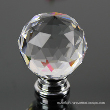 Fashion 40mm Crystal Glass Cabinet Hardware Knob and Handle for Furniture