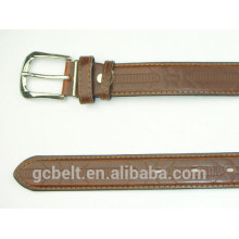 Man's embossed classical tan col PU leather belt