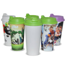 Wholesale plastic sublimation travel mugs printing sublimation cup