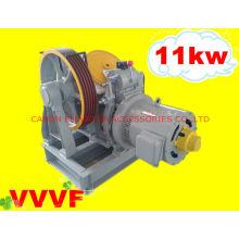 Máquina de tracción Motor de engranaje de elevación VVVF