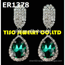 custom made rhinestone earrings