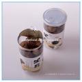 Прозрачный консервированный стакан с черным экстрактом чеснока