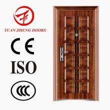 Porta de segurança de aço do Egito Porta de sala de cor de madeira