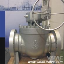 ANSI # Cl150 / Cl300 / Cl600 / Cl900 / Cl1500 Válvula de esfera de entrada superior com engrenagem