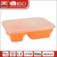Home useful clear multi compartment food container