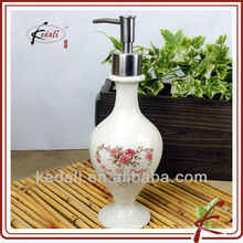 ceramic large soap dispenser with pump