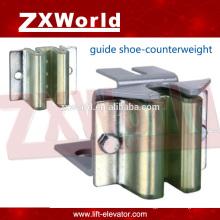 Pièces d'ascenseur / chausson-guide de glissement-Applicable au contrepoids-ZXA-847series
