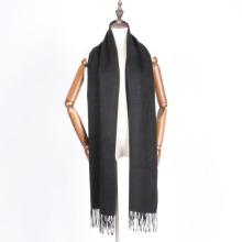schwarze Farbe Unisex Wolle Schal Schal für den Winter