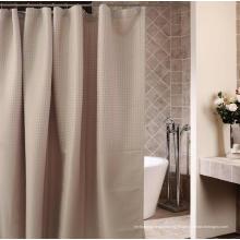 Rideau de douche de polyester de traitement imperméable de salle de bains d'hôtel de salle de bains (WSSC-2016006)