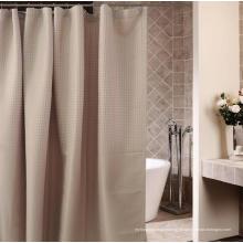 Cortina de chuveiro de processamento impermeável do poliéster do processamento do banheiro Dobby do hotel (WSSC-2016006)