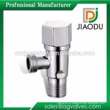 Cw617n хромированный или никелированный латунный угловой клапан со стальной ручкой
