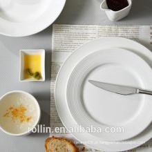 China por atacado restaurante restaurante cozinha personalizada buffet prato de porcelana