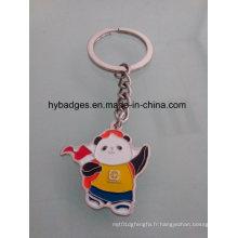 Belle porte-clés Panda, porte-clés en métal émail (GZHY-KA-021)