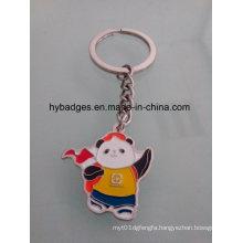 Lovely Panda Keychain, Enamel Metal Key Ring (GZHY-KA-021)