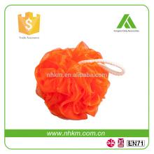 PE mesh, plastic Material and Ball Type baby bath sponge