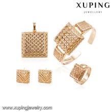 64005 Xuping novo projetado banhado a ouro conjuntos de casamento
