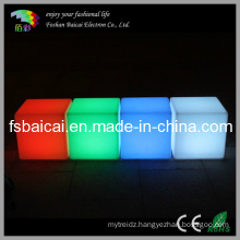 PE Waterproof Seat Multi Color Changing LED Cube Lighting