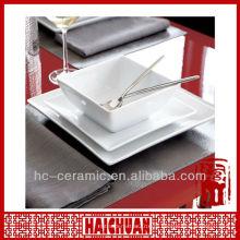 Керамическая квадратная салатная миска, салатница квадратная белая